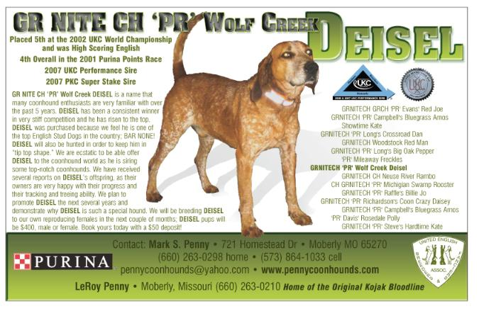 2002 UKC WORLD CH. ENGLISH WOLF CREEK DEISEL